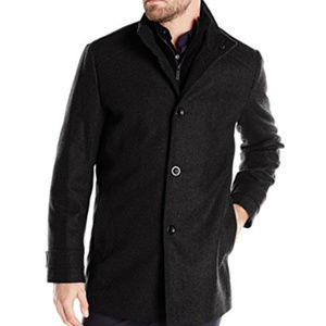 Kenneth Cole Wool-Blend Coat w Bib XL